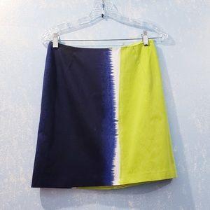 TAHARI Tie Dye Paint Splatter Mini Pencil Skirt 2